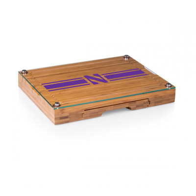 Northwestern Wildcats Concerto Bamboo Cutting Board