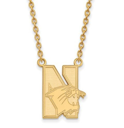 Northwestern University 14k Yellow Gold Large Pendant Necklace