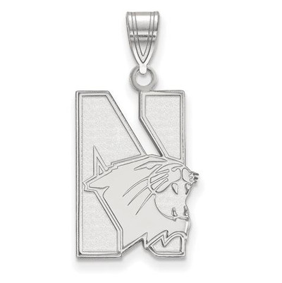 Northwestern University Sterling Silver Large Pendant
