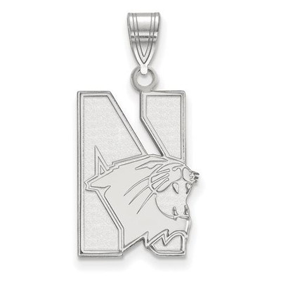 Northwestern University 10k White Gold Large Pendant