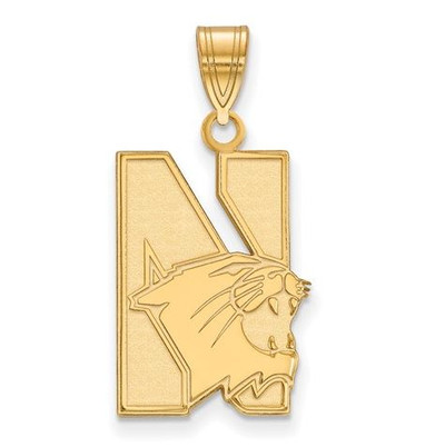 Northwestern University 10k Yellow Gold Large Pendant
