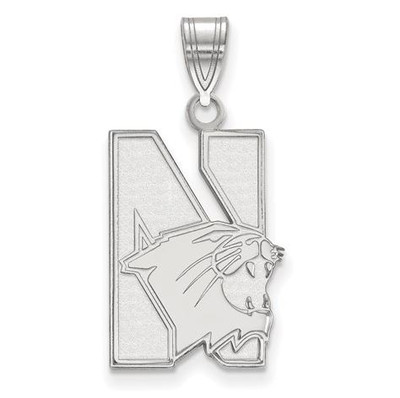 Northwestern University 14k White Gold Large Pendant