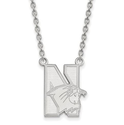 Northwestern University Sterling Silver Large Pendant Necklace