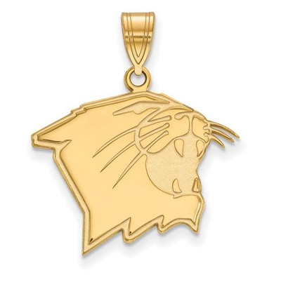 Northwestern University Wildcats 10k Yellow Gold Large Pendant