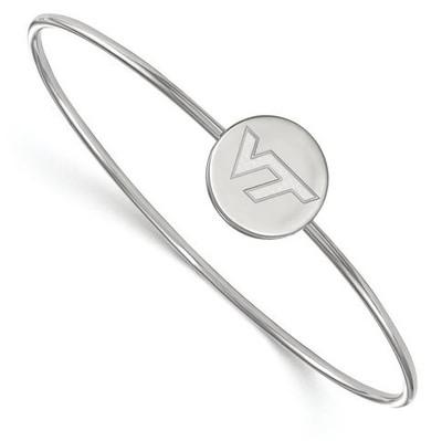 Virginia Tech Sterling Silver Wire Bangle Bracelet