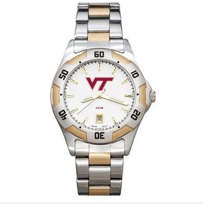 Virginia Tech All-Pro Men's Two-Tone Watch