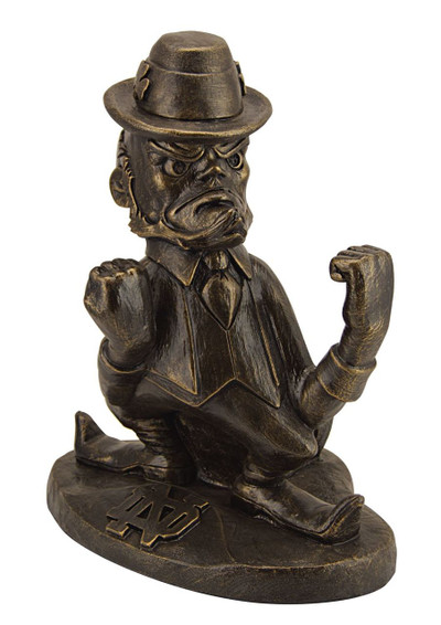 Notre Dame Fighting Irish Bronze Mascot Garden Statue