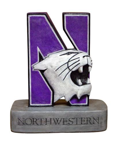 Northwestern Wildcats Mascot Garden Statue