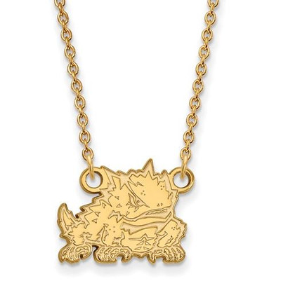 TCU Sterling Silver Gold Plated Small Pendant Necklace