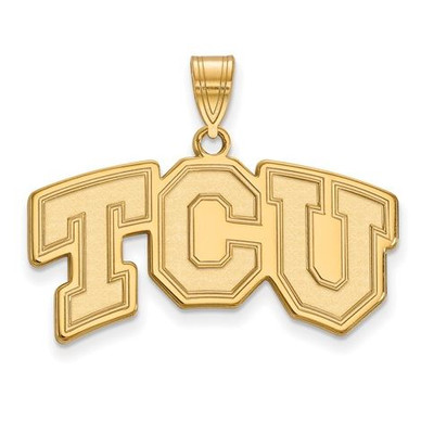 TCU 10k Yellow Gold Medium Pendant