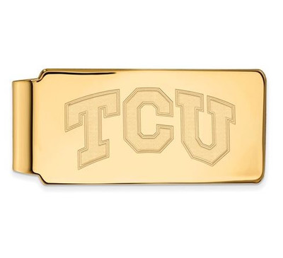 TCU Sterling Silver Gold Plated Money Clip