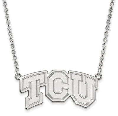 TCU 14k White Gold Large Pendant Necklace