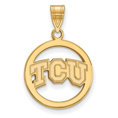 TCU Sterling Silver Gold Plated Small Circle Pendant