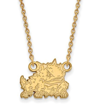 TCU 10k Yellow Gold Small Pendant Necklace