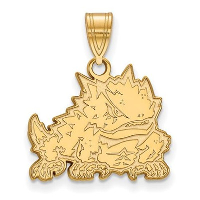 TCU Sterling Silver Gold Plated Medium Pendant