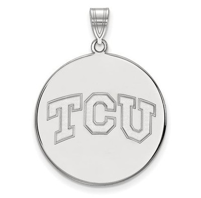 TCU 10k White Gold Extra Large Disc Pendant