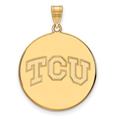 TCU 14k Yellow Gold Extra Large Disc Pendant