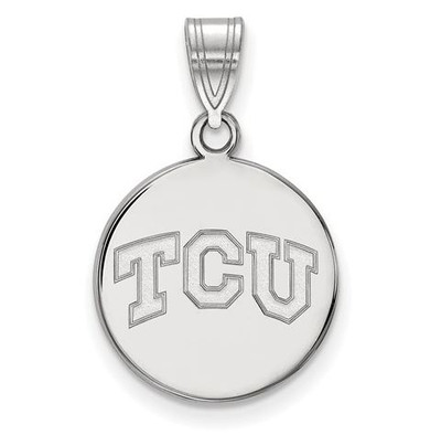 TCU 14k White Gold Medium Disc Pendant