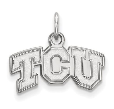 TCU Horned Frogs 14k White Gold Extra Small Pendant