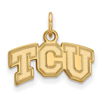 TCU 10k Yellow Gold Extra Small Pendant