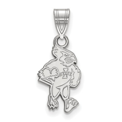 Iowa State University 10k White Gold Medium Pendant
