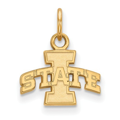 Iowa State University Sterling Silver Gold Plated Extra Small Pendant