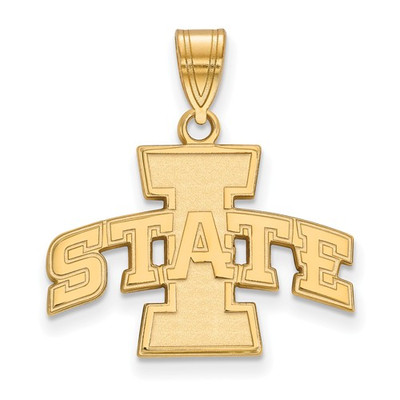 Iowa State University 14k Yellow Gold Medium Pendant