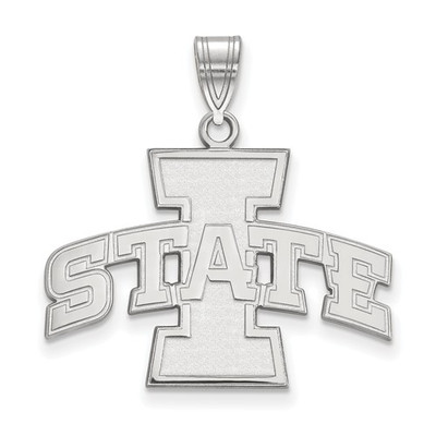 Iowa State University 14k White Gold Large Pendant