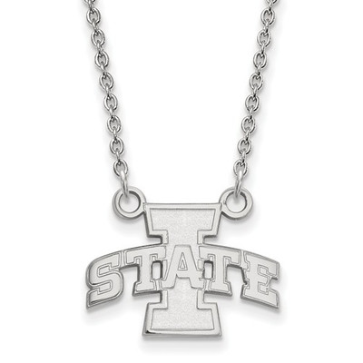 Iowa State University 14k White Gold Small Pendant Necklace
