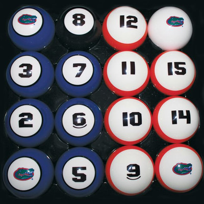 Florida Gators Billiard Pool Ball Set