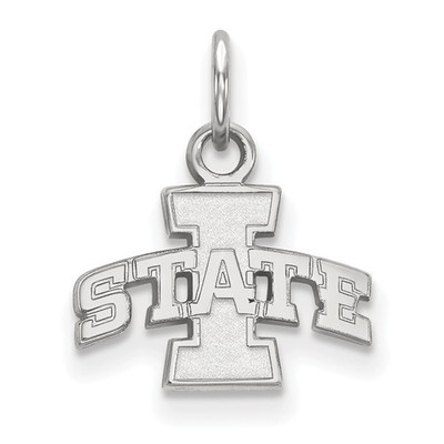 Iowa State University 10k White Gold Extra Small Pendant