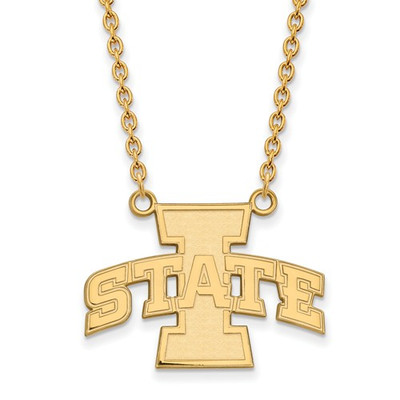 Iowa State University 10k Yellow Gold Large Pendant Necklace