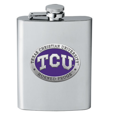 TCU Horned Frogs Flask