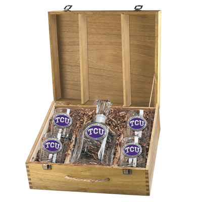 TCU Horned Frogs Capitol Capitol Decanter Box Set