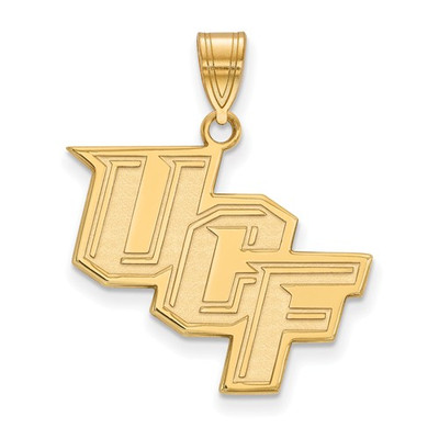 University of Central Florida Knights 14k Yellow Gold Large Pendant