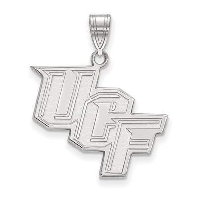 University of Central Florida 14k White Gold Large Pendant