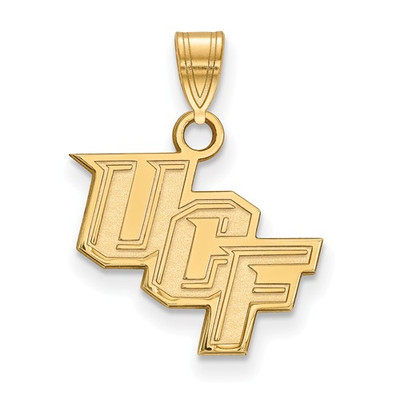 University of Central Florida Knights 10k Yellow Gold Small Pendant | Logo Art | 1Y002UCF