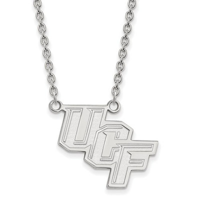University of Central Florida 14k White Gold Large Pendant Necklace