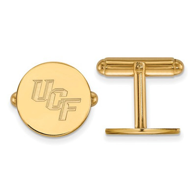 University of Central Florida 14k Yellow Gold Cufflinks