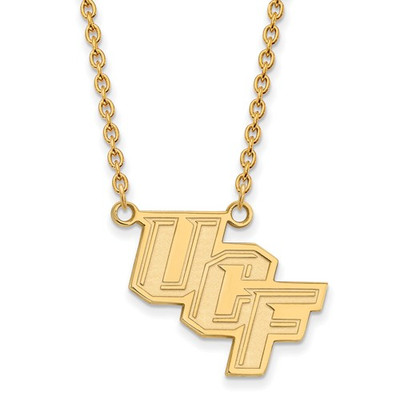 University of Central Florida 14k Yellow Gold Large Pendant Necklace