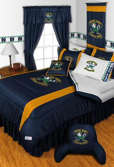 Notre Dame Fighting Irish Comforter Set | Sports Coverage | 04JSCOM4NODSET