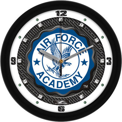 Air Force Academy Carbon Fiber Textured Wall Clock