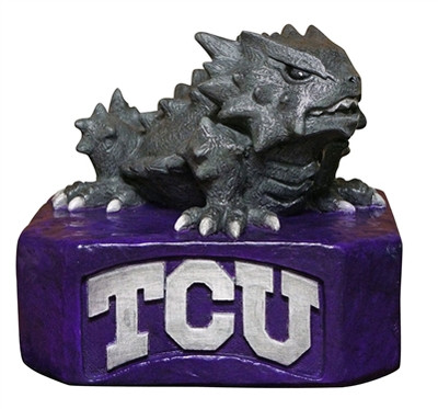 TCU Horned Frogs Mascot Garden Statue