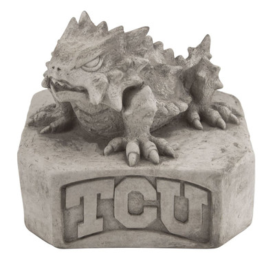 TCU Horned Frogs Vintage Mascot Garden Statue