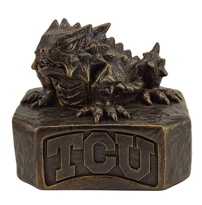 TCU Horned Frogs Bronze Mascot Garden Statue
