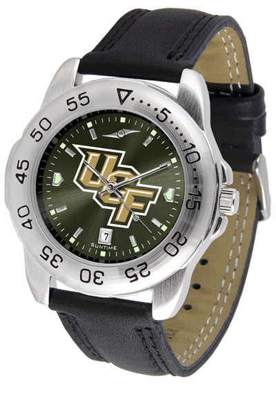 UCF Knights Men's Sport Leather AnoChrome Watch