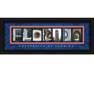 Florida Gators Campus Campus Letter Art Print