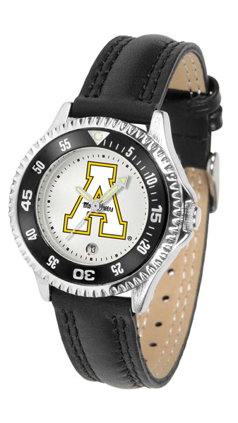 Appalachian State Mountaineers Ladies Competitor Sport Leather Watch