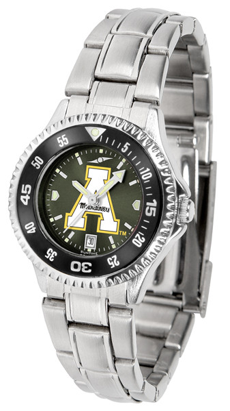 Appalachian State Mountaineers Ladies Competitor Steel AnoChrome Watch with Color Bezel