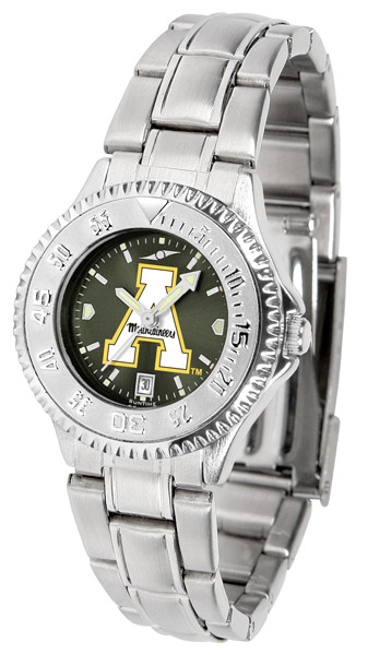 Appalachian State Mountaineers Ladies Competitor Steel AnoChrome Watch